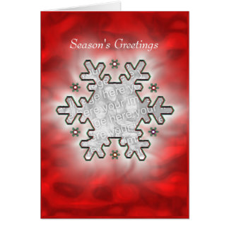 Christmas Snowflake Red (photo frame) Card