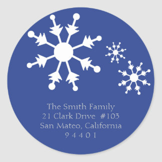 Christmas Snowflake Return Address Labels Stickers