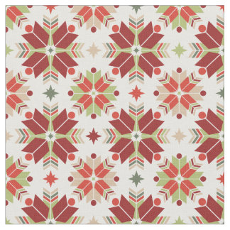 Christmas snowflake scandinavian pattern fabric