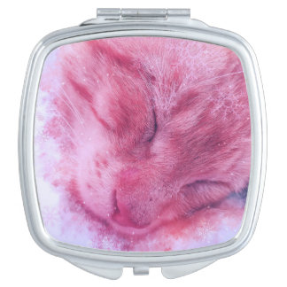 Christmas Snowflake Sleepy Cat Vanity Mirrors