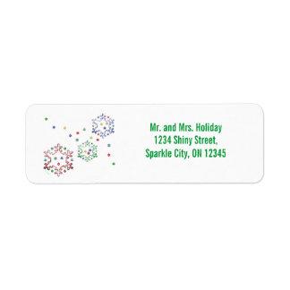 Christmas Snowflake Stars Return Address Label