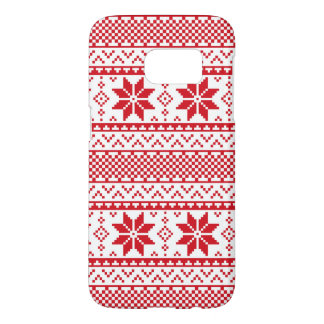 Christmas snowflake ugly sweater Samsung S7 case