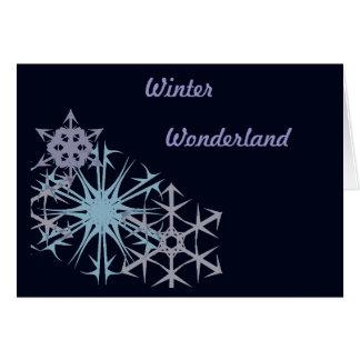 Christmas Snowflake Winter Wonderland Card