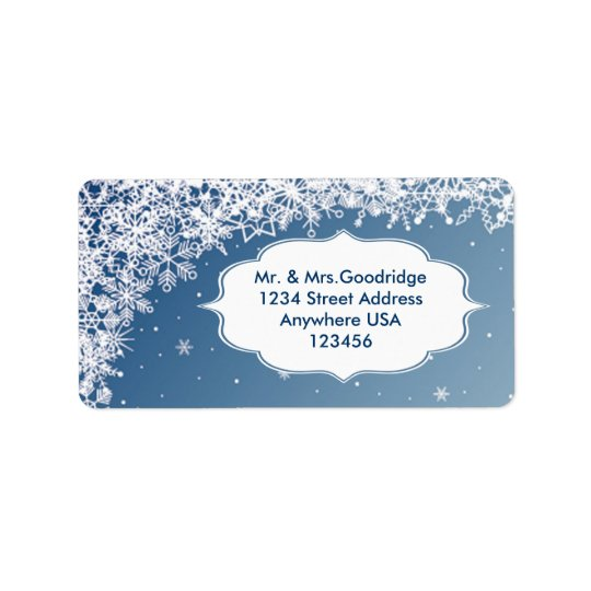 Christmas snowflakes Address Avery Labe Label