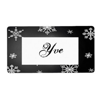Christmas Snowflakes Black And Grey Template I