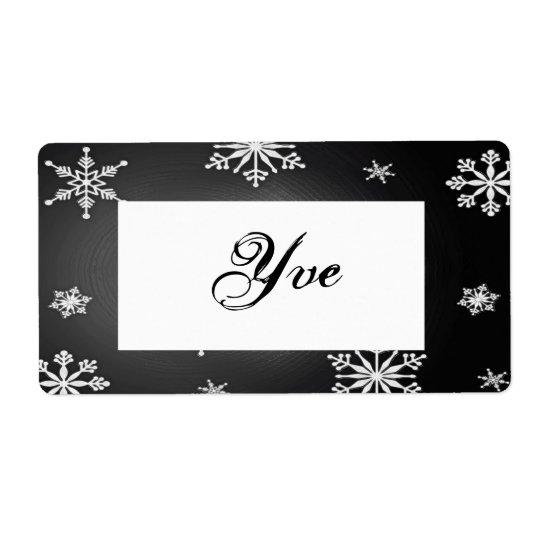Christmas Snowflakes Black And Grey Template I