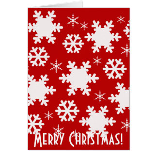 Christmas Snowflakes Greeting Card! Greeting Card