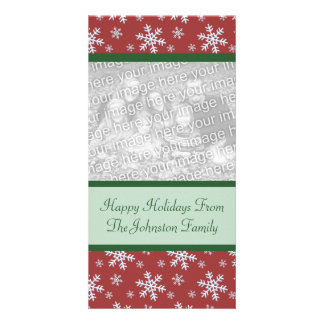 Christmas Snowflakes Holiday Photo Cards
