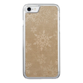 Christmas Snowflakes Iphone II Carved iPhone 7 Case
