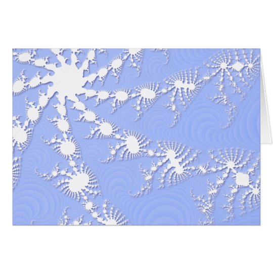 Christmas Snowflakes On Frosty Blue Christmas Card