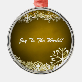 Christmas Snowflakes Ornament Silver-Colored Round Ornament