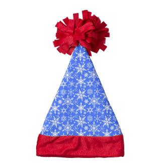 Christmas snowflakes pattern santa hat