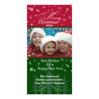 Christmas Snowflakes Photo Card