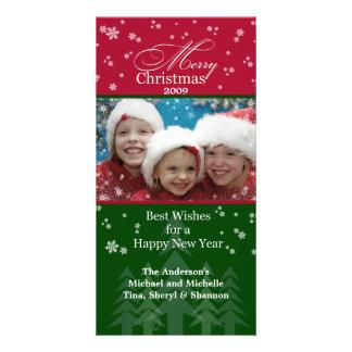 Christmas Snowflakes Photo Card