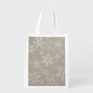Christmas Snowflakes Shopping Bag