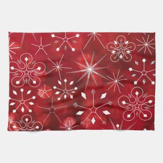 Christmas Snowflakes Tea Towel