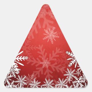 Christmas snowflakes triangle sticker