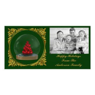 Christmas Snowglobe Tree Photo Card