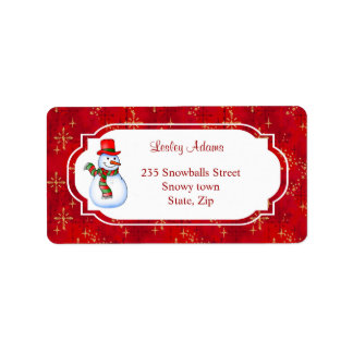 Christmas Snowman Address  Label Address Label
