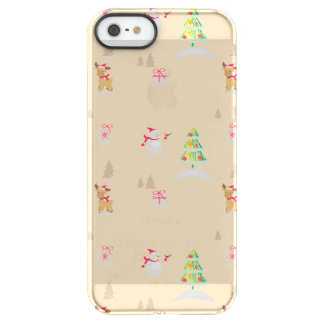 Christmas snowman and reindeer pattern permafrost® iPhone SE/5/5s case