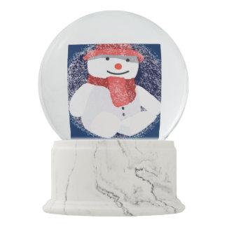 Christmas snowman art snow globes