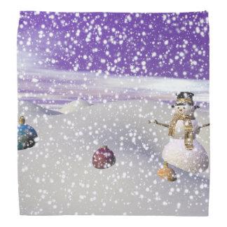 christmas snowman bandana