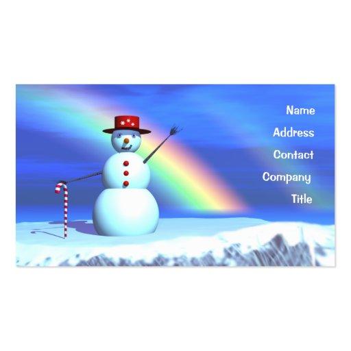 Christmas Snowman - Business Business Card Template