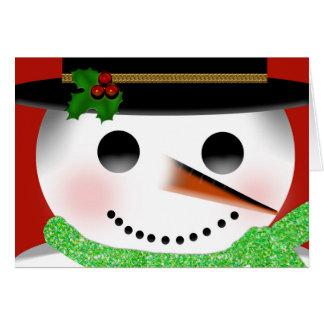 CHRISTMAS - SNOWMAN - CHILDREN CARD