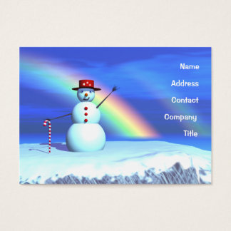 Christmas Snowman - Chubby Business Card