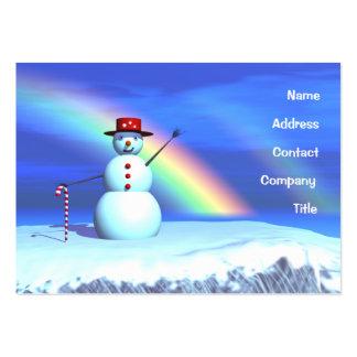Christmas Snowman - Chubby Business Card Template