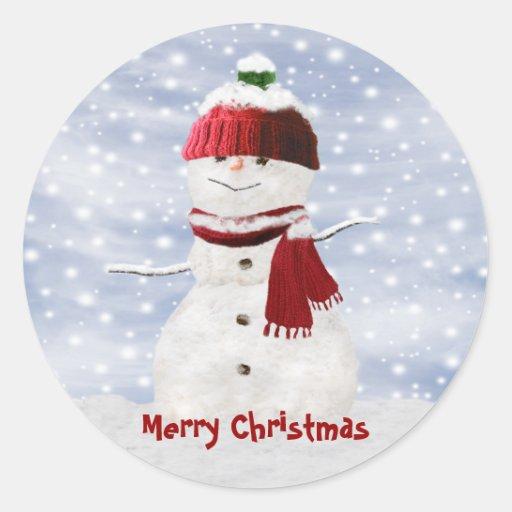Christmas Snowman Customizable Stickers