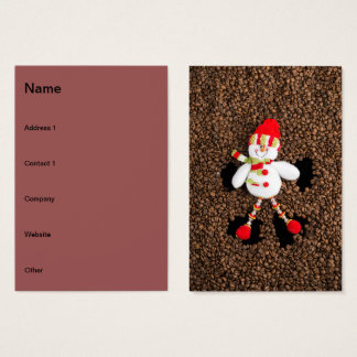 Christmas snowman decoration business card