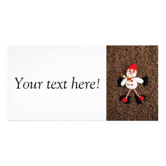 Christmas snowman decoration card