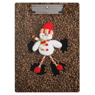 Christmas snowman decoration clipboard