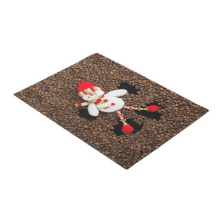 Christmas snowman decoration doormat