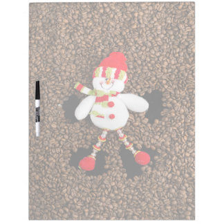 Christmas snowman decoration dry erase board