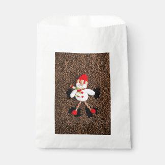 Christmas snowman decoration favour bag