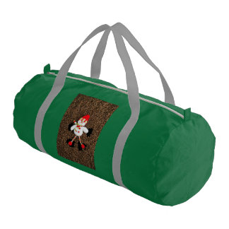 Christmas snowman decoration gym bag