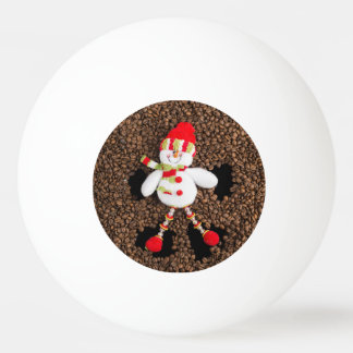 Christmas snowman decoration ping pong ball