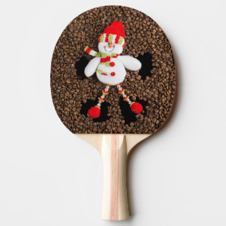 Christmas snowman decoration ping pong paddle