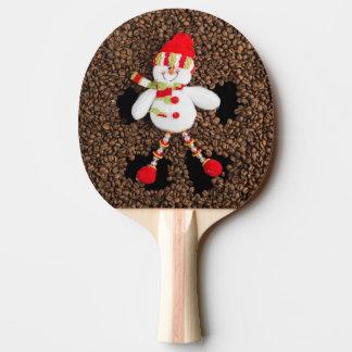 Christmas snowman decoration ping pong paddle
