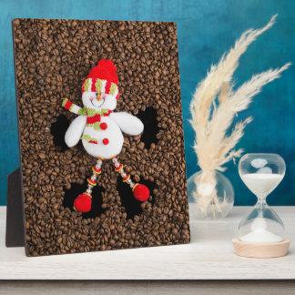 Christmas snowman decoration plaque