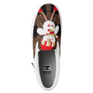 Christmas snowman decoration slip on shoes