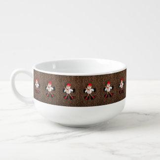 Christmas snowman decoration soup mug
