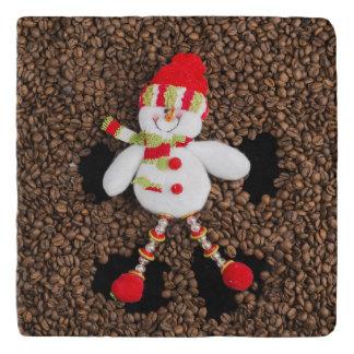 Christmas snowman decoration trivet