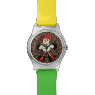 Christmas snowman decoration watch