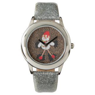 Christmas snowman decoration watch