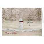 Christmas snowman for Niece Greeting Card