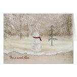 Christmas snowman for Niece Greeting Card