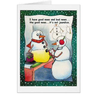 Christmas:  Snowman Good News, Bad News Card